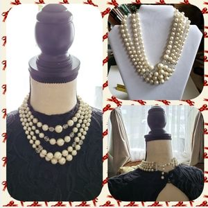 Vintage pearl and bead necklace from Japan
